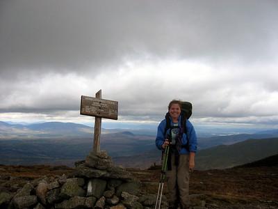 Me on Saddleback, my 56th peak on the NE67