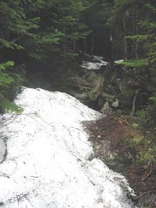 Still some snow in the cols