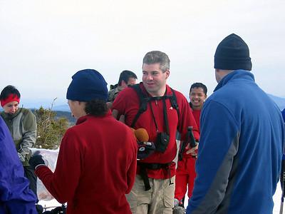 Celebrating on the summit