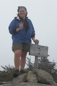 Me on Mt. Coe -- just four more peaks to go on the New England Hundred Highest list (Picture courtesy of HikerBob)