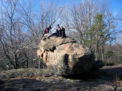 Ailsa, Rockgoddess and Jen atop Kilkenny Rock