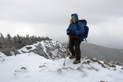 Me atop Flume, my 30th peak on the NH48 winter list (photo courtesy of HikerBob)