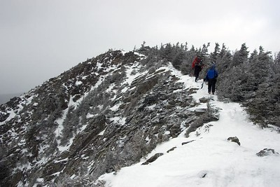 Mtn.Drew and I headed to the summit of Flume (photo courtesy of HikerBob)