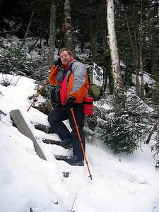 HikerBob ascending the ladder