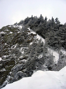 The final push up to the summit of Flume