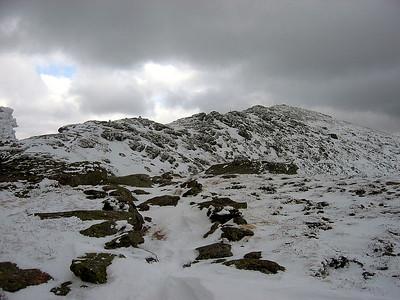 The ridge heading up Lafayette