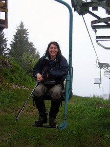 sal in the single chair lift... I think she said it was the only one in the state