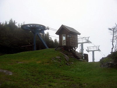 One of many ski lifts we passed along this hike