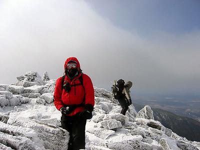 Bob and Gaiagirl near the summit