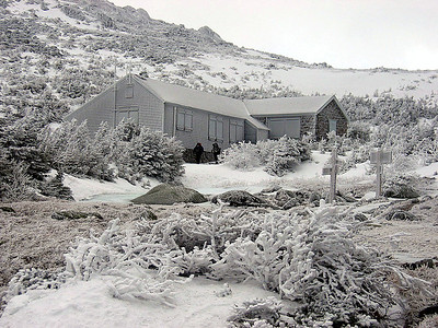 Madison Springs Hut, which is closed for the winter