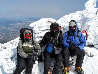 Gaiagirl, Geri and I on the summit of Mt. Madison (photo courtesy of Bob Hayes)