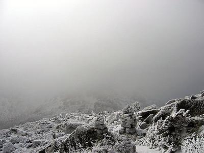 We couldn\'t see Mt. Adams behind us