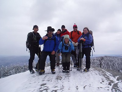 Rubber ducky, Magic, Chinooktrail, Dreski, Yam, hozzy and me on the summit of Moriah (photo courtesy of LenDawg)