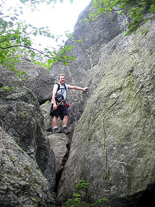 HikerBob amongst the big boulders in the ravine