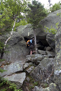 Heading into a small tunnel (photo courtesy of HikerBob)