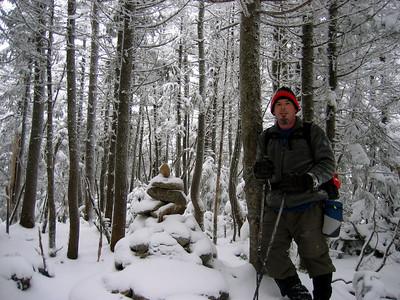 Rocksnrolls on East Osceola, his 45th peak of the NH 48