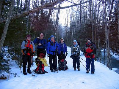 HikerBob, Wild Peaks, Bob, Geri, Gaiagirl and Jim L ready to go