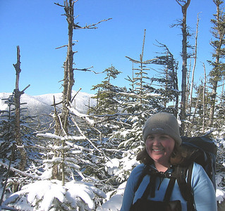 Me on the summit of Owl\'s Head, number 28 for the NH 48 winter list