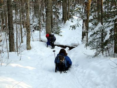 Geri and I sledding (photo courtesy of Bob Hayes)