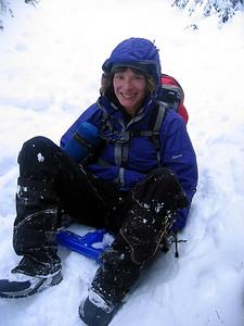Geri on her sled