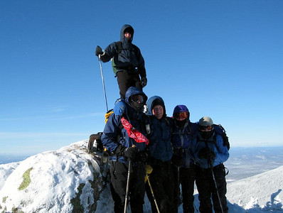 The team on South Twin (photo courtesy of Bob Hayes)