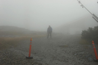 I aborted my trip over the forehead because I was becoming hypothermic. Here I am at the visitor\'s center (picture by HikerBob)