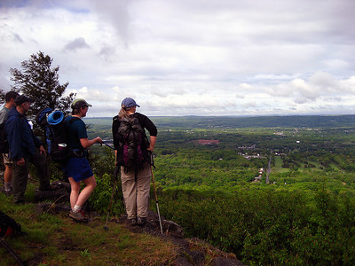 Greenwood, Dugan and Rock Goddess taking in the view from West Peak