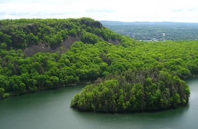 Mine Island and Merimere Reservoir