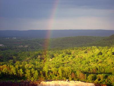 Rainbow over a quarry