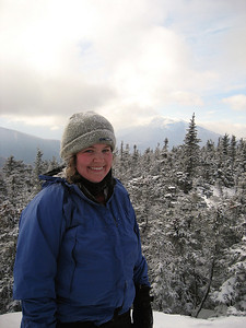 Me on Moriah, my 42nd peak on the NH48 winter list with Mt. Madison behind me
