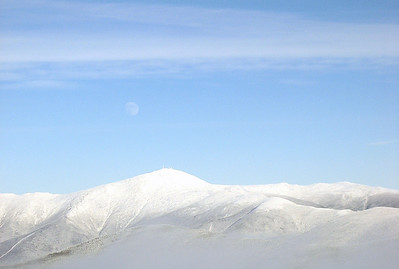 Moon over Mt Washington