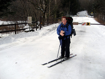 Me on my skis... I skied most of the way out