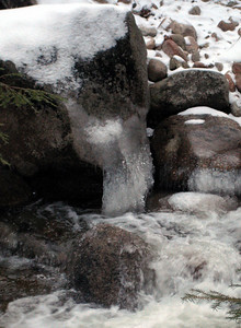 Ice in one of the brook crossings