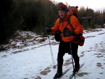 HikerBob tried to ski in