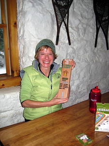 Geri with the championship cribbage board