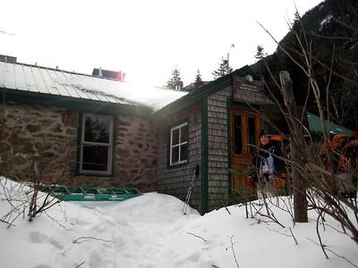 Finally at the hut