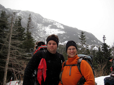 Steve and Christa prepare to hike out
