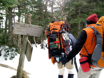 Whoo hoo.... at the Wildcat Ridge junction and almost at the hut.