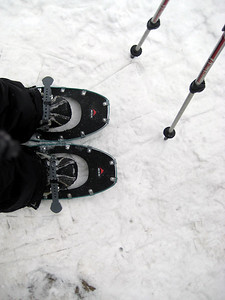 My first trip on snowshoes this year....