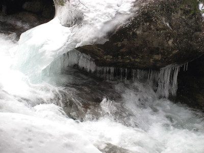 Ice and white water in 19 Mile Brook