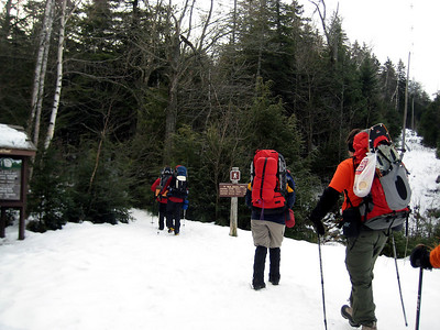 Heading in the four miles to the hut.