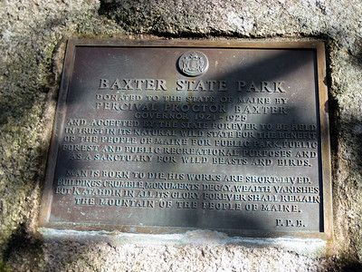 Plaque at the trailhead.