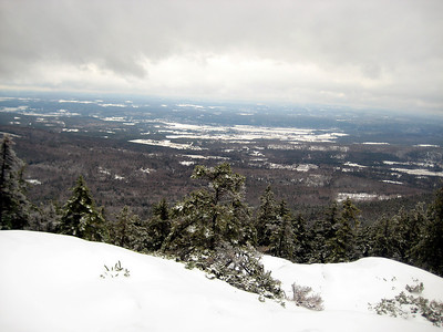 Looking down toward the Connecticut River valley
