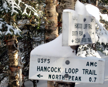 We hiked up North Hancock so I could sled down South Hancock.