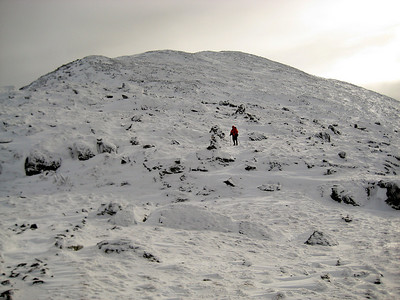 HikerBob heading down toward Sphinx Col