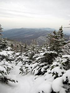 View of the Cherry Mountain range