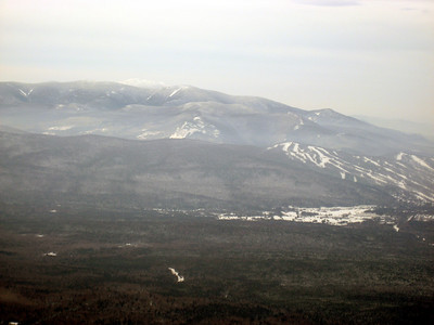 Looking over to the Pemi, with Bretton Wood's ski slopes on the right