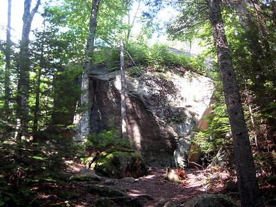 A huge random boulder