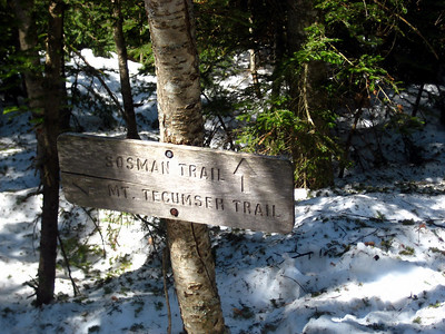 Heading onto the Sosman Trail, which cuts over to the ski area
