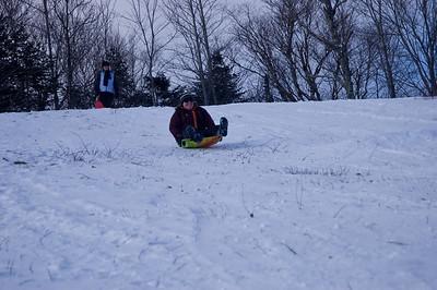 Me sledding (photo courtesy of HikerBob)
